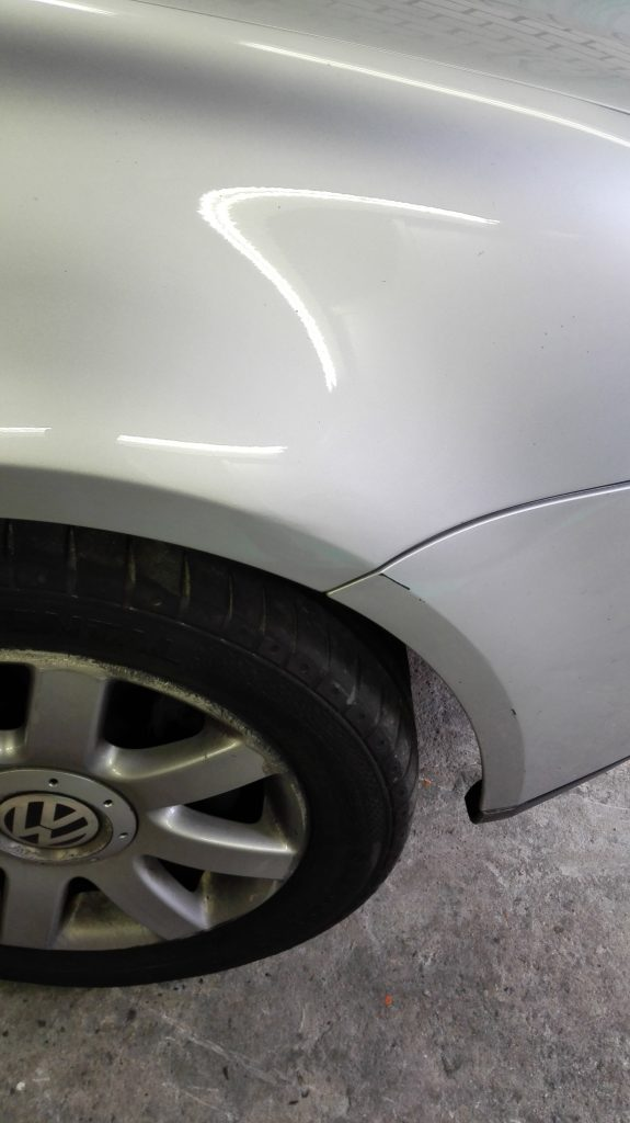 after dent removal
